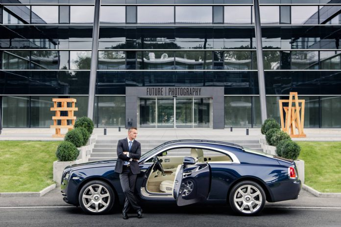 Rolls-Royce Wraith and male model