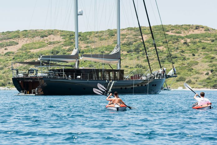 Sailing Yacht RoxStar garage and water toys