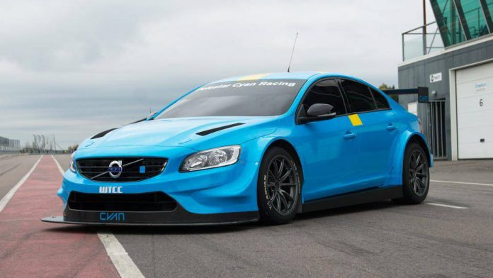 Blue Volvo S60 Polestar
