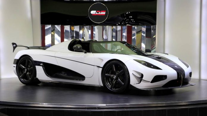 White Koenigsegg Agera RS  for sale