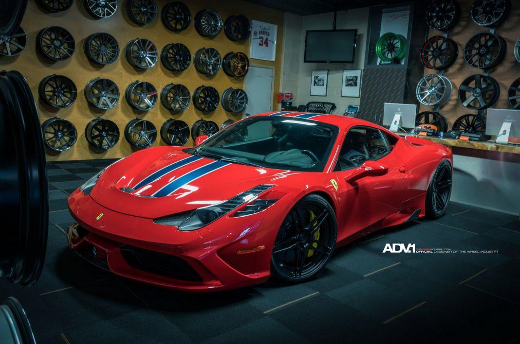Ferrari 458 Speciale with ADV.1 wheels