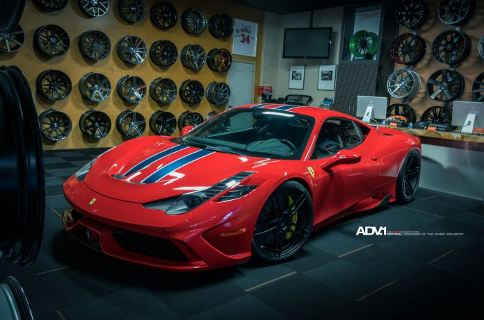 Ferrari 458 Speciale with ADV.1 wheels