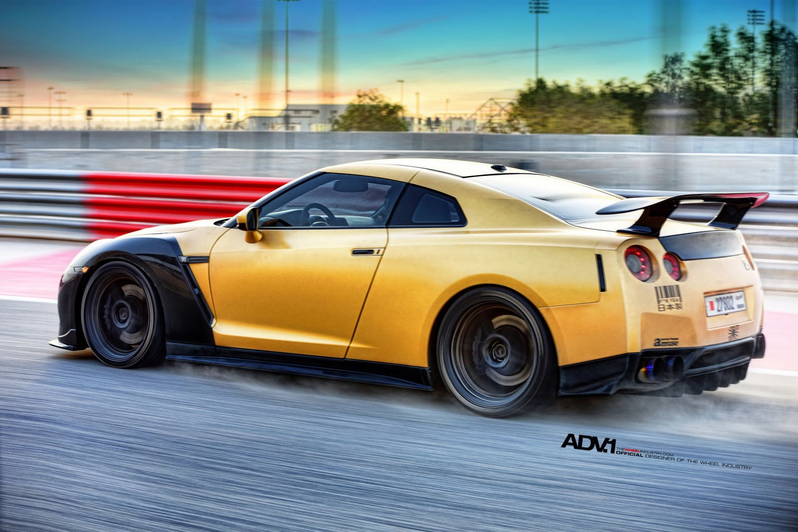 Gold Carbon Ams Nissan Gt R With Adv1 Wheels Gtspirit Rims Gtr 1