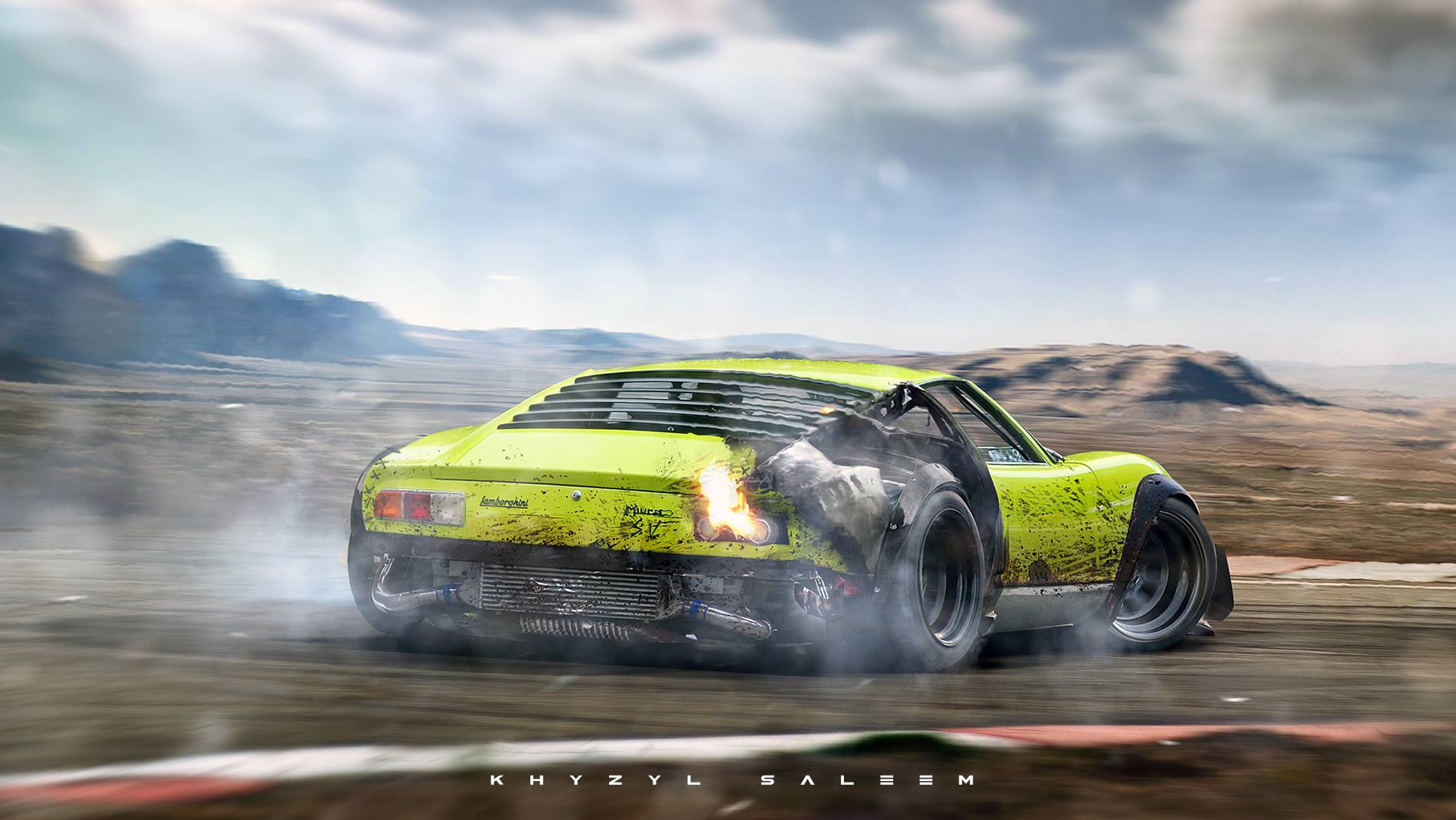 Drifting Widebody Lamborghini Miura Is The Thing Of Dreams