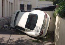 Maserati Gran Turismo crashes in South Africa