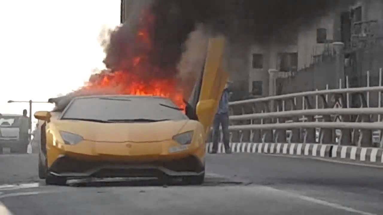 Footage Emerges Of Lamborghini Aventador Lp720 4 Catching Fire In