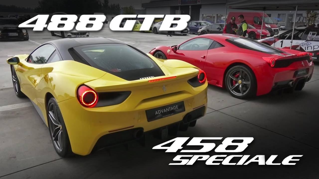 Video Ferrari 458 Speciale Vs 488 Gtb Rev Battle Gtspirit