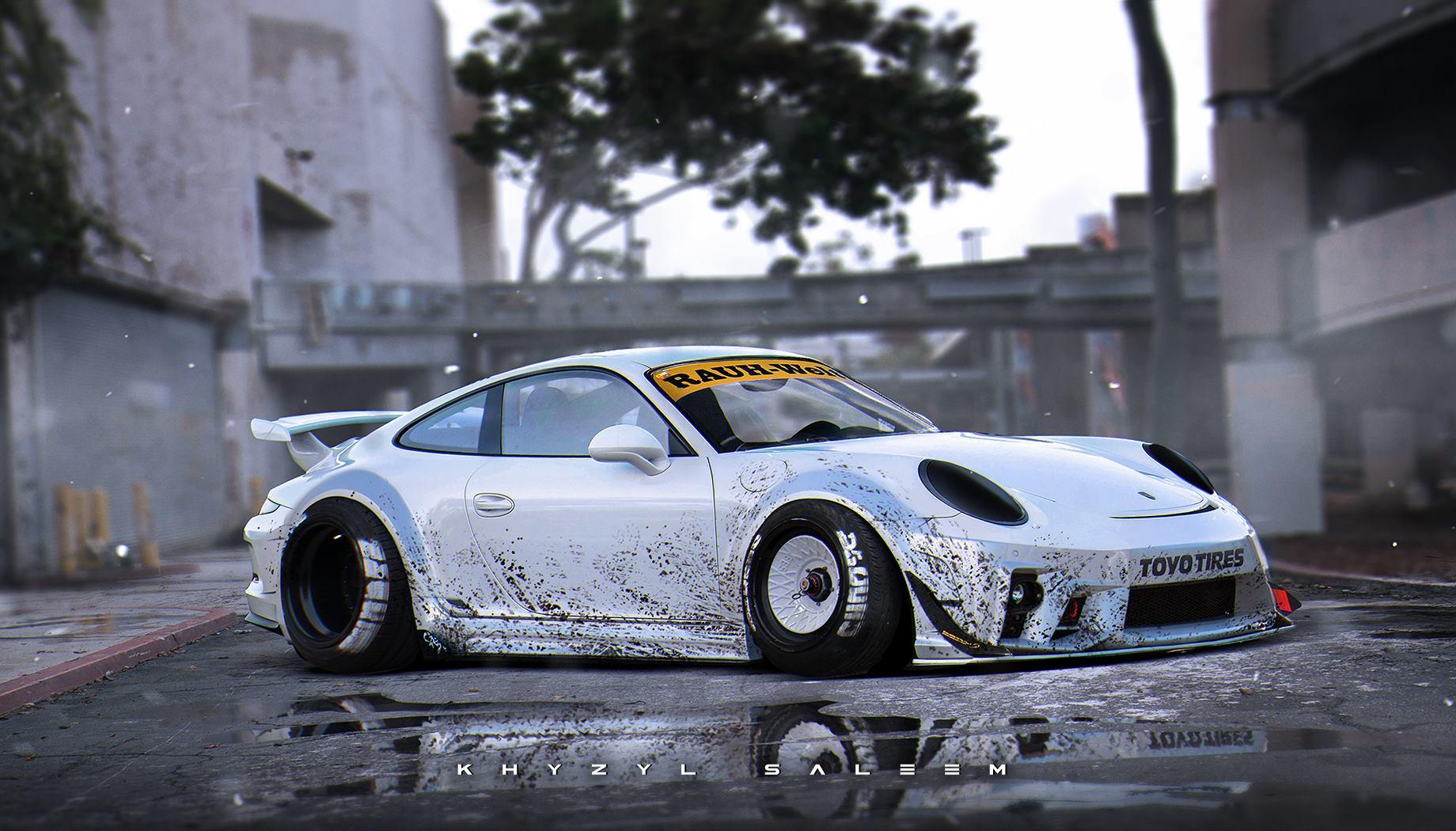 2015 Porsche 911 Gt3 Rendered With Rwb Widebody Kit Gtspirit