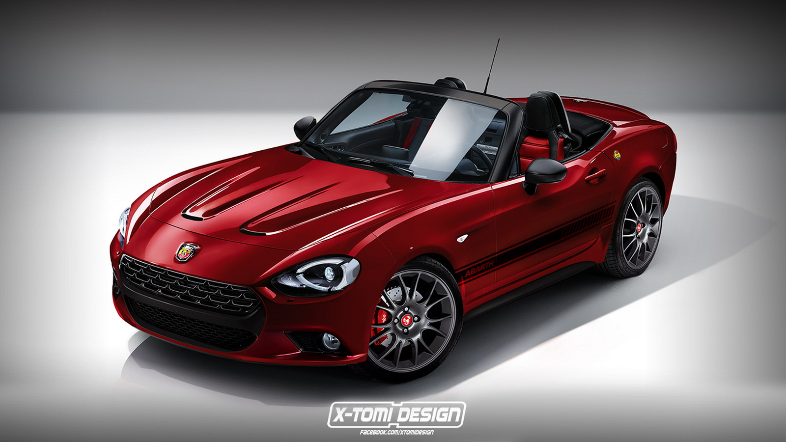 fiat 124 spider adorned with abarth skin gtspirit. Black Bedroom Furniture Sets. Home Design Ideas