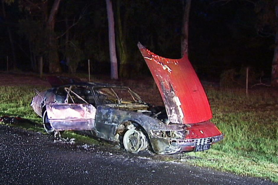 Ferrari Daytona Stolen and burnt in Australia