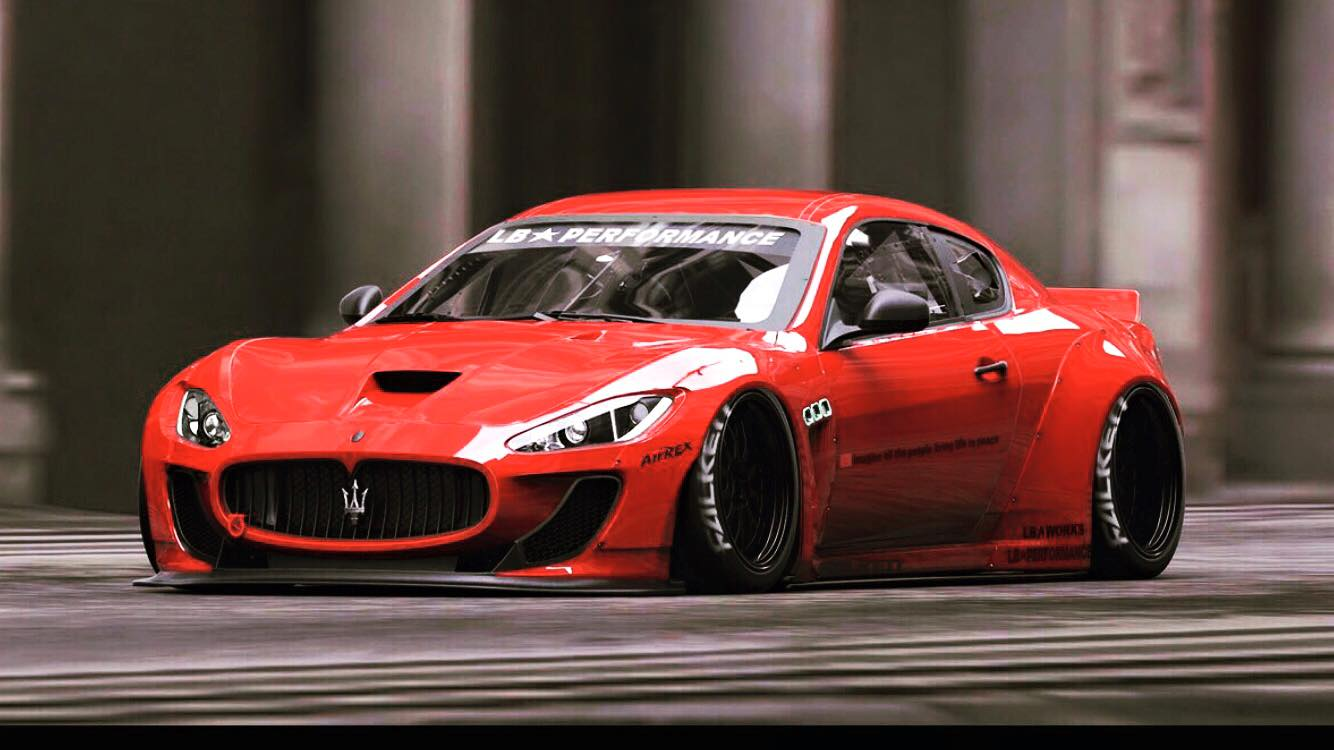 First Widebody Liberty Walk Maserati Granturismo Previewed