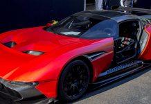 Red Aston Martin Vulcan