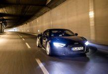 Black Audi R8 V10 Plus