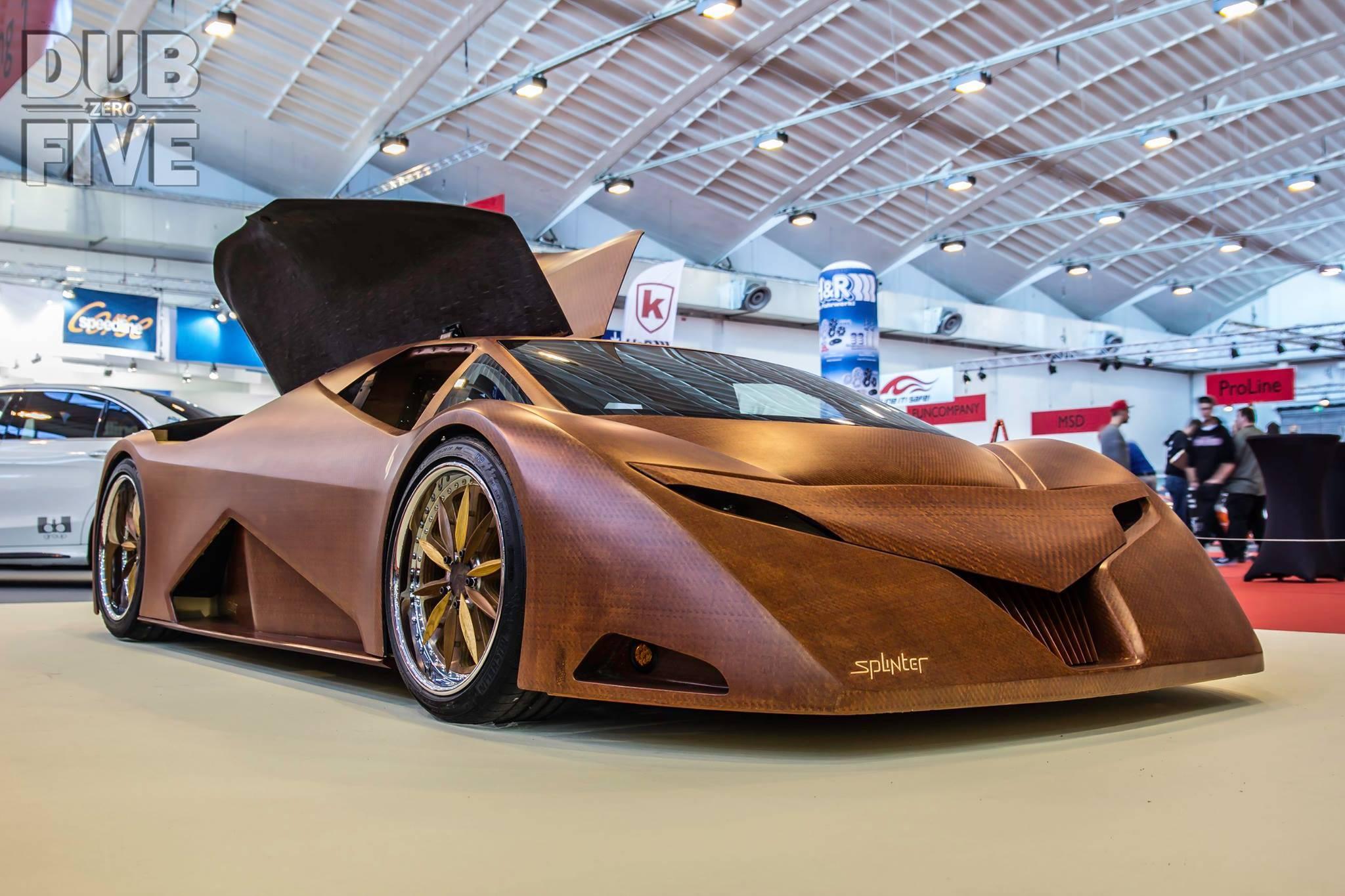 Splinter Wooden Supercar Essen Motor Show