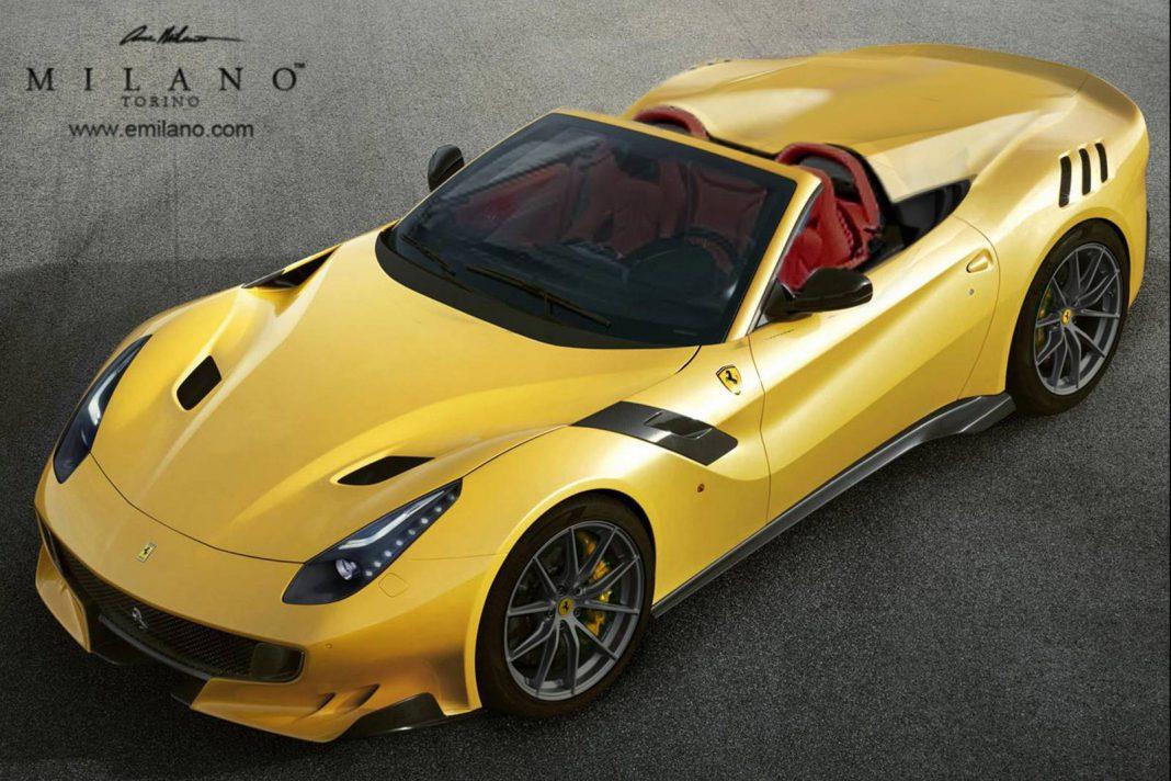 Ferrari F12tdf Aperta yellow
