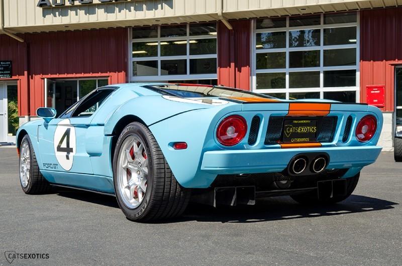 Supercar Ini Telah Mendapat Cat Heritage Blue Dengan Striping Gulf Orange Dan Interiornya Hadir Dalam Nuansa Ebony Black Melihat Kondisinya Mobil Ini
