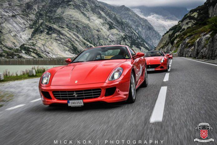 Ferrari convoy Gran Turismo Europa 2015