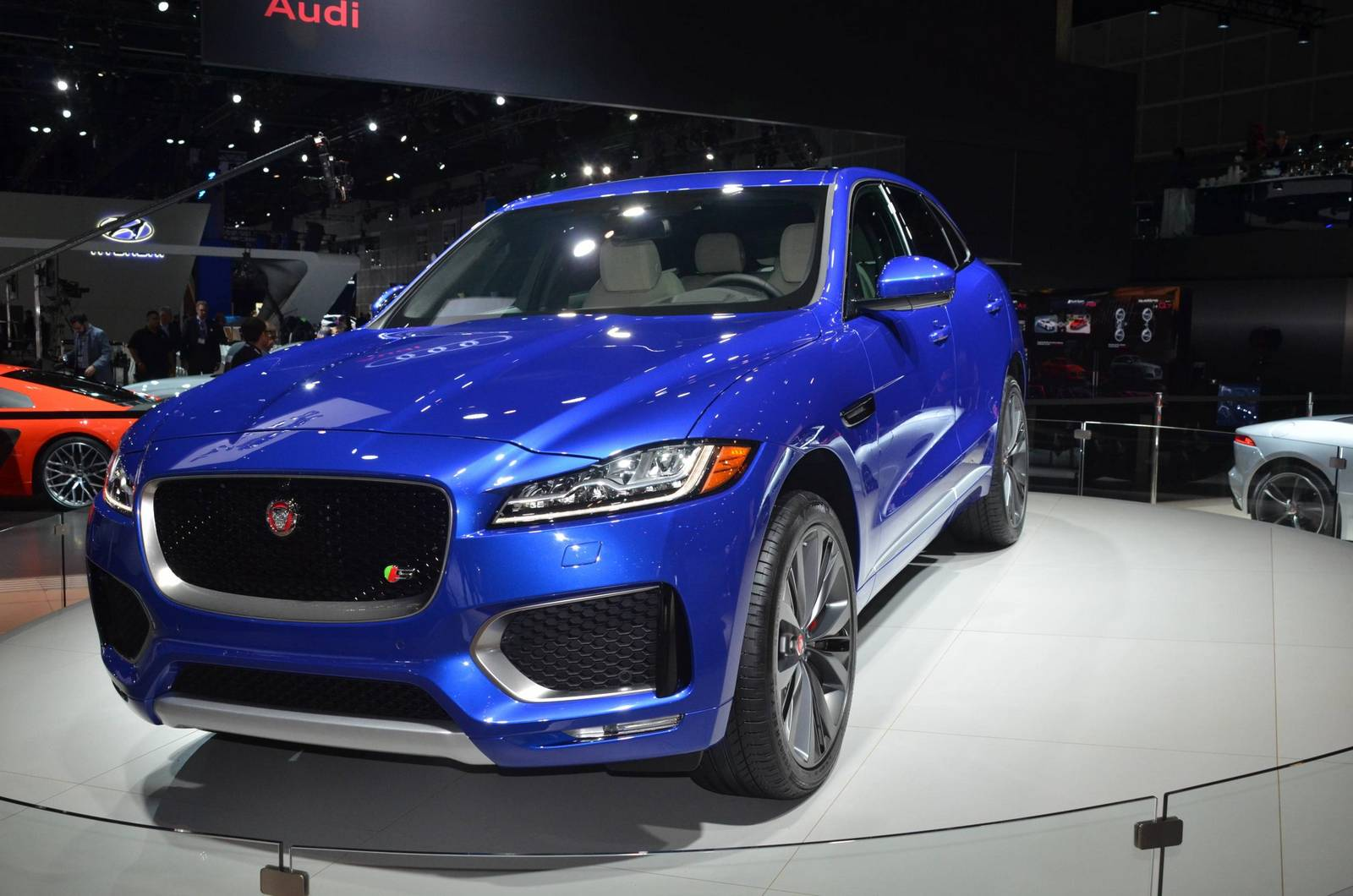 Jaguar Land Rover at the 2015 Los Angeles global Auto Show
