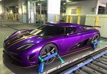 Purple Koenigsegg Agera R