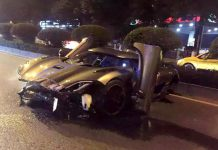 Koenigsegg Agera crash in China