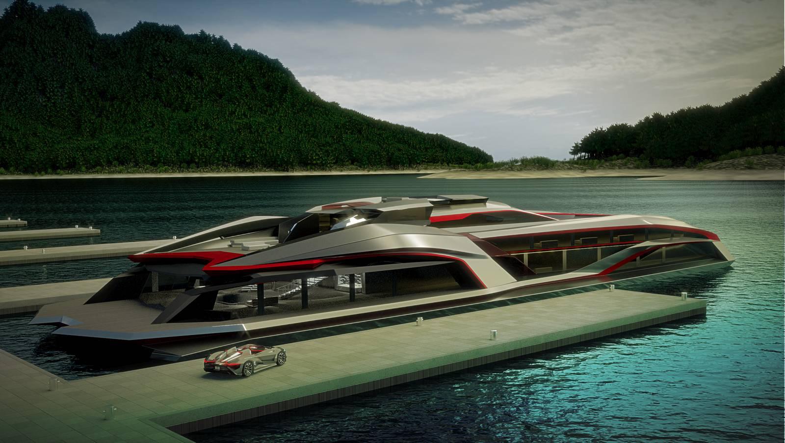 Kraken yacht gray design