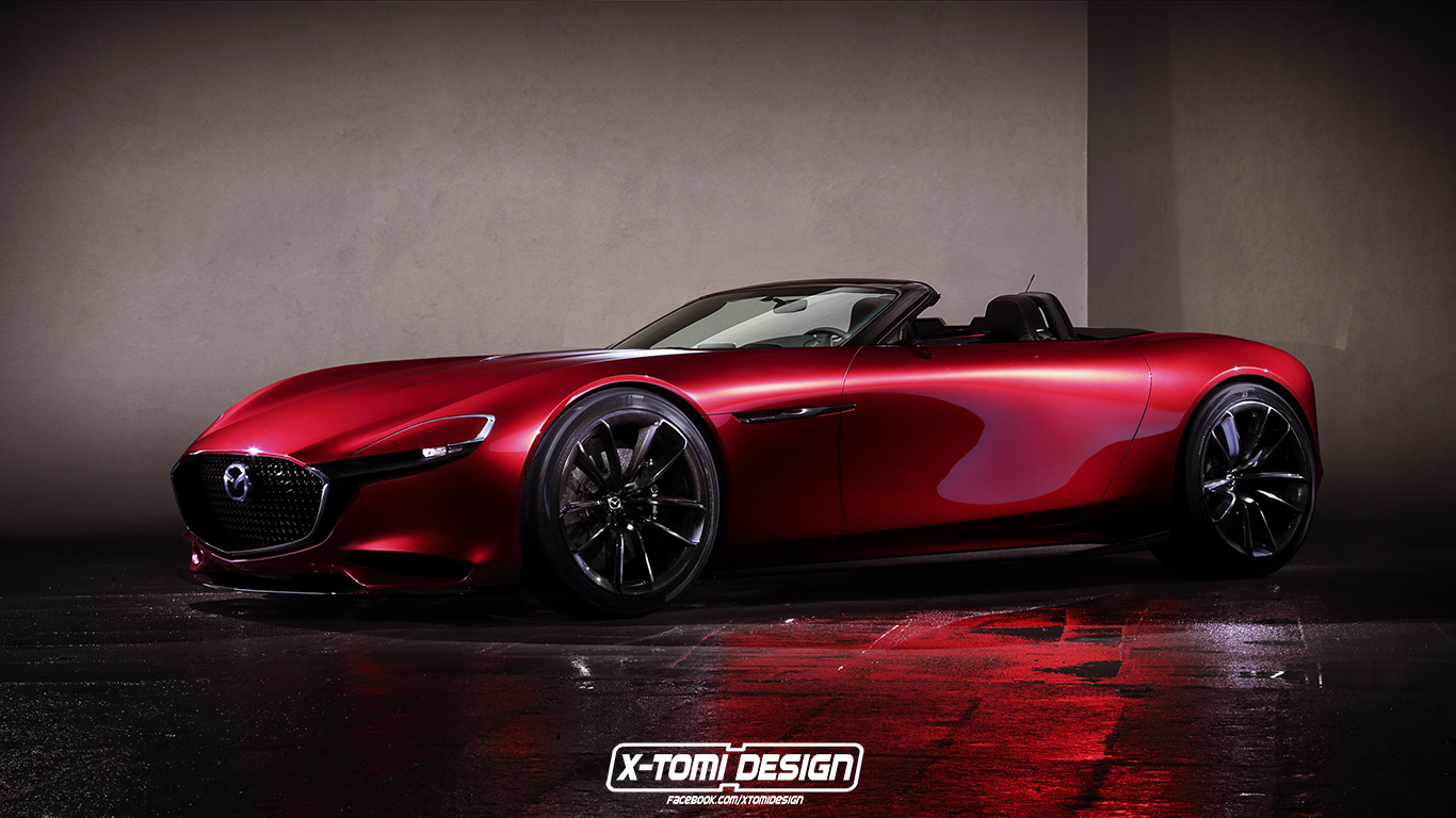mazda rx vision looks stunning as a roadster gtspirit. Black Bedroom Furniture Sets. Home Design Ideas