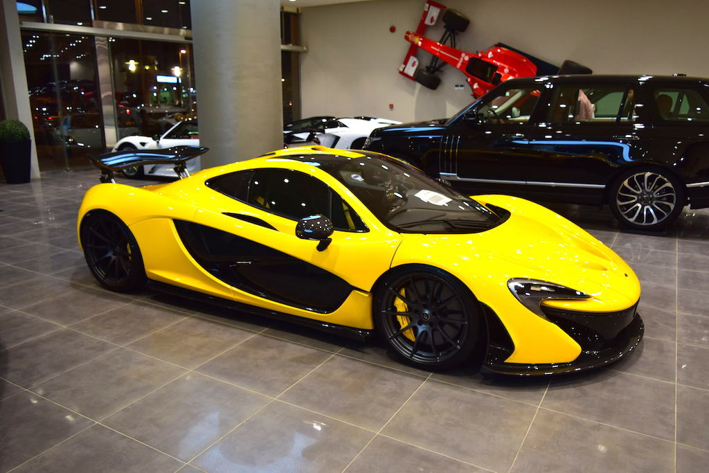 unique yellow mclaren p1 for sale in dubai gtspirit. Black Bedroom Furniture Sets. Home Design Ideas