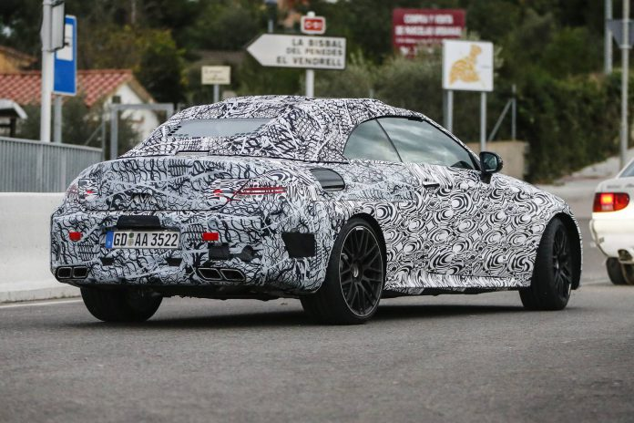 Mercedes-AMG C63 Cabrio spy shot