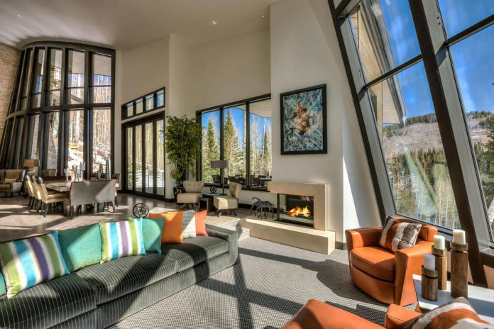 Park City mansion lounge