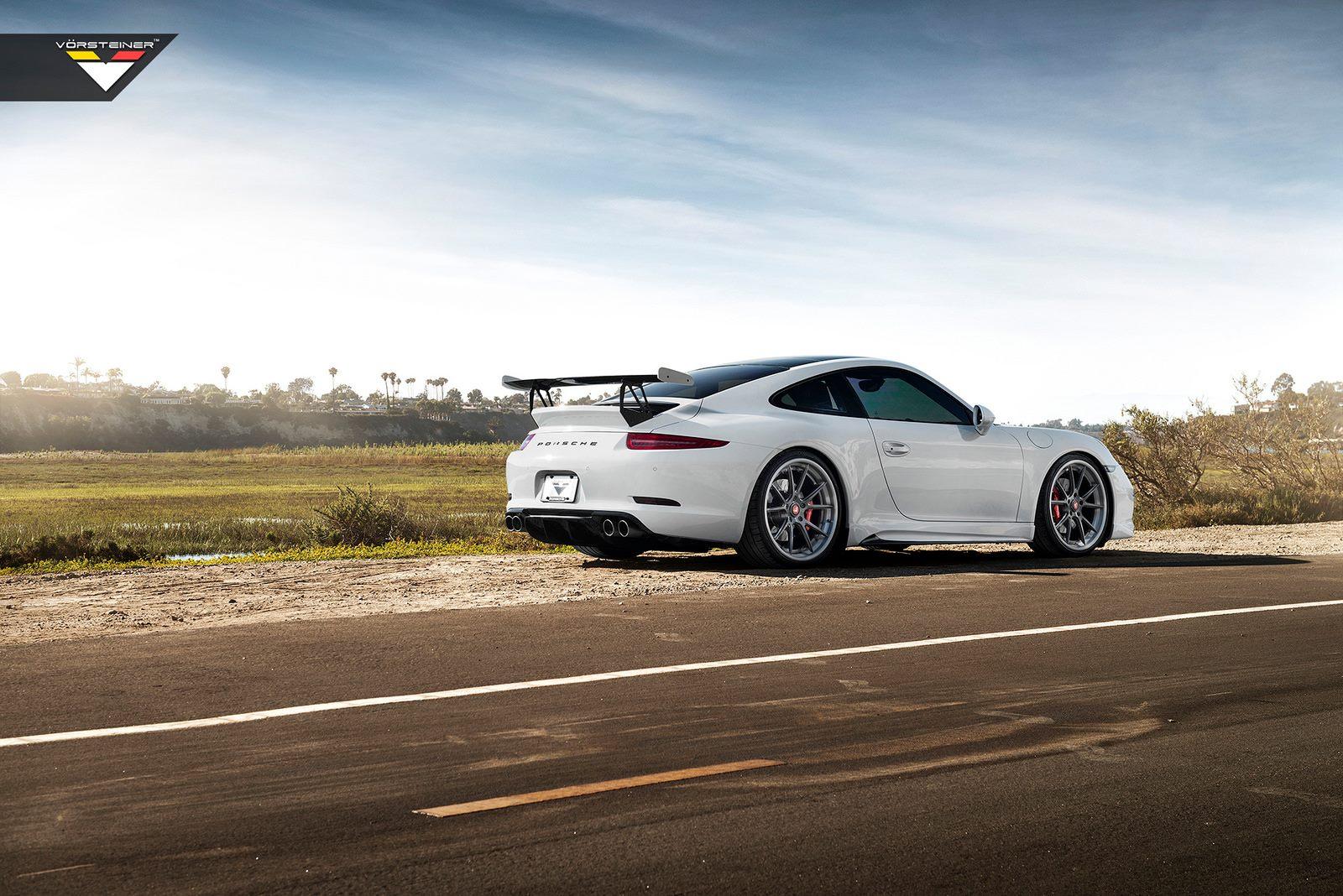 Porsche Newport Beach >> Stunning White Vorsteiner V-GT Porsche 991 Carrera S - GTspirit