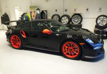 Black and Orange Porsche 911 GT3 RS