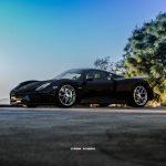 Black Porsche 918 Spyder side view