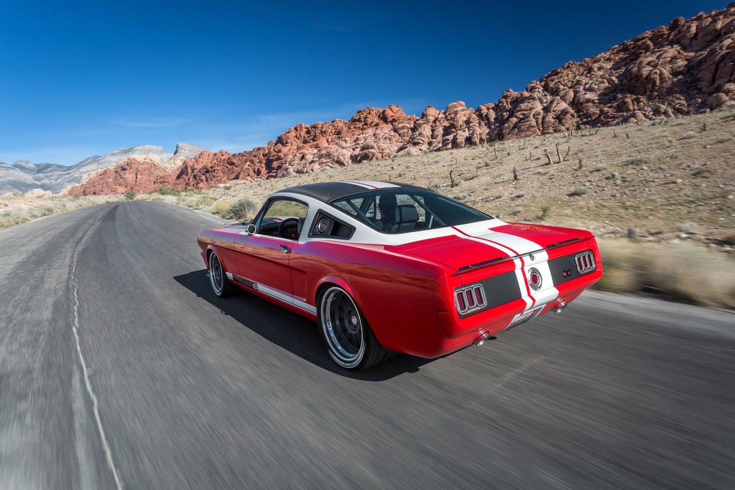 Ringbrothers 1965 Splitr Mustang At The Red Rock Canyon