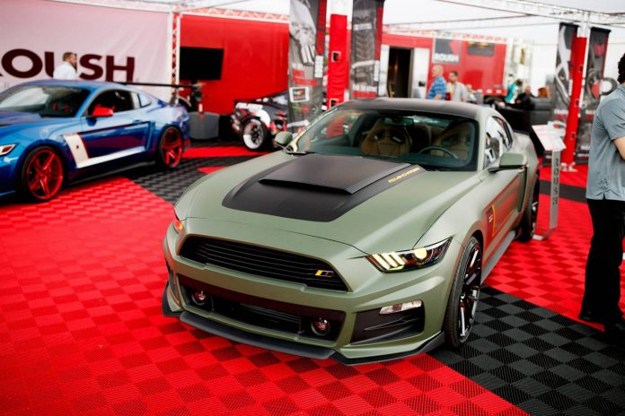 Roush Mustang Green SEMA 2015