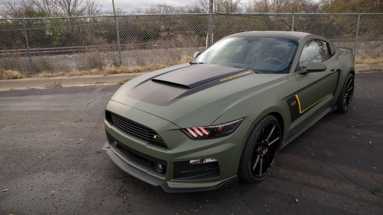Matte Military Green Roush Mustang