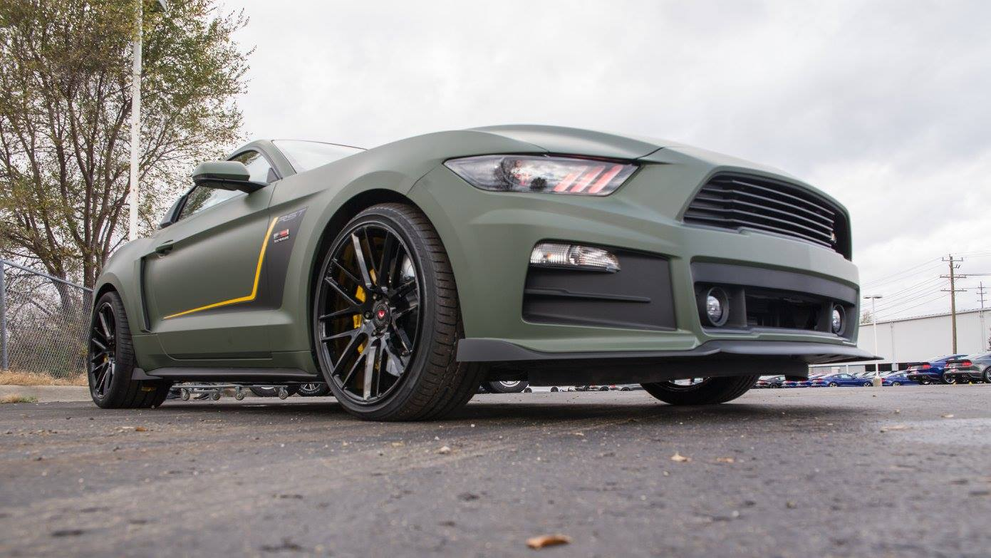 Matte Military Green Roush Rst Ecoboost Mustang Gtspirit