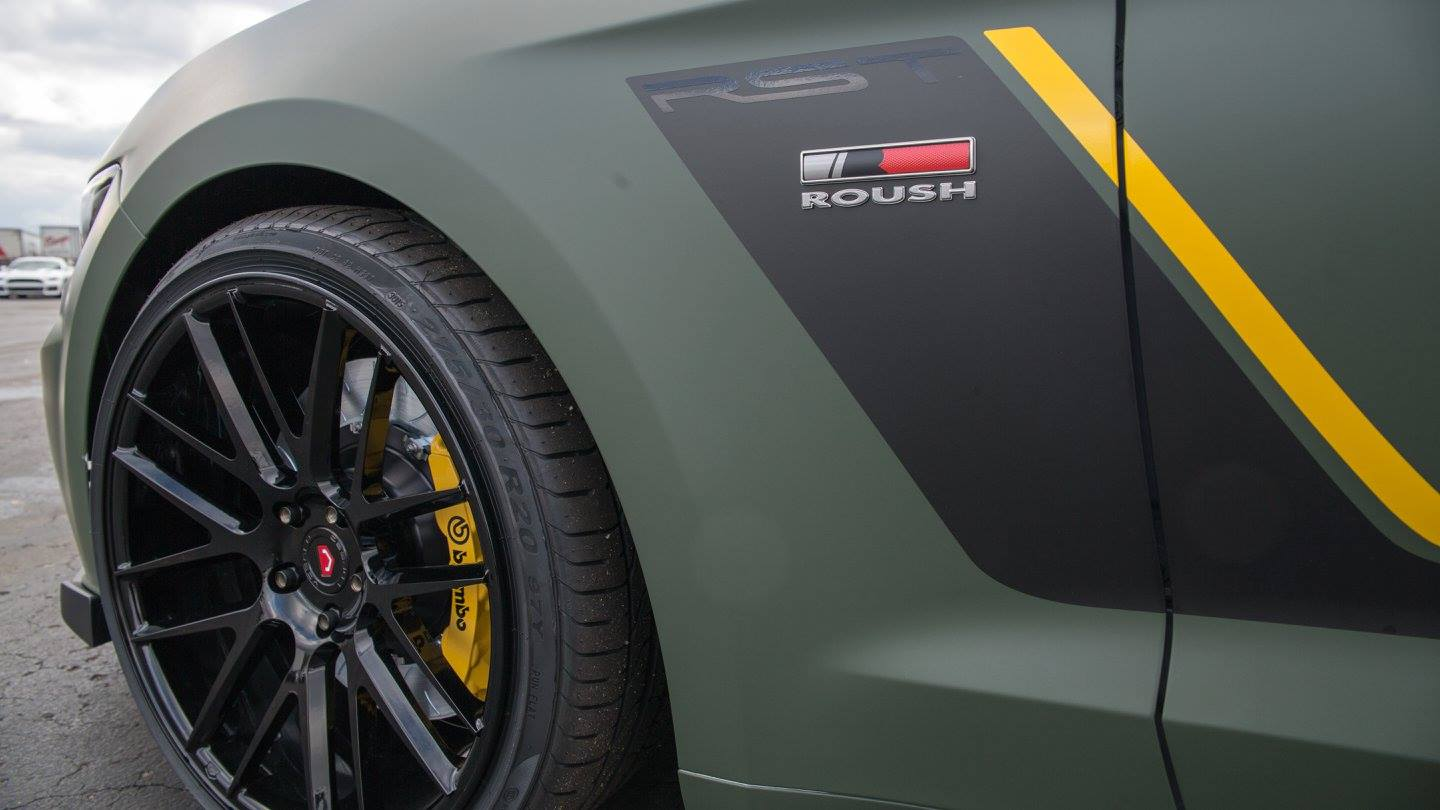 2015 Mustang Ecoboost Modified >> Matte Military Green Roush RST EcoBoost Mustang - GTspirit