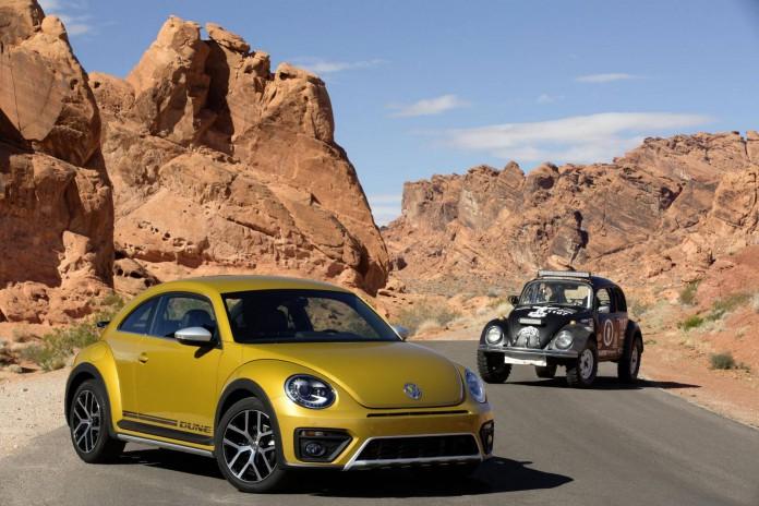 VW Beetle Dune and classic Beetle