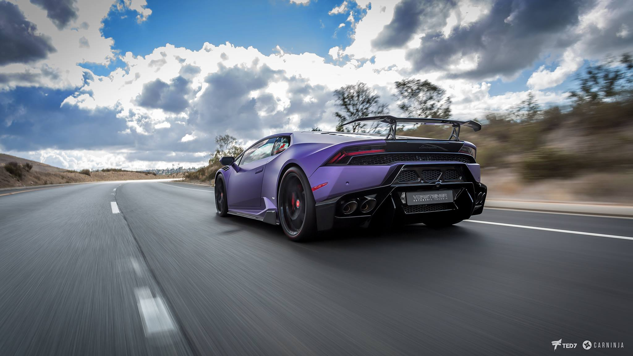 photo of the day purple vorsteiner lamborghini huracan. Black Bedroom Furniture Sets. Home Design Ideas