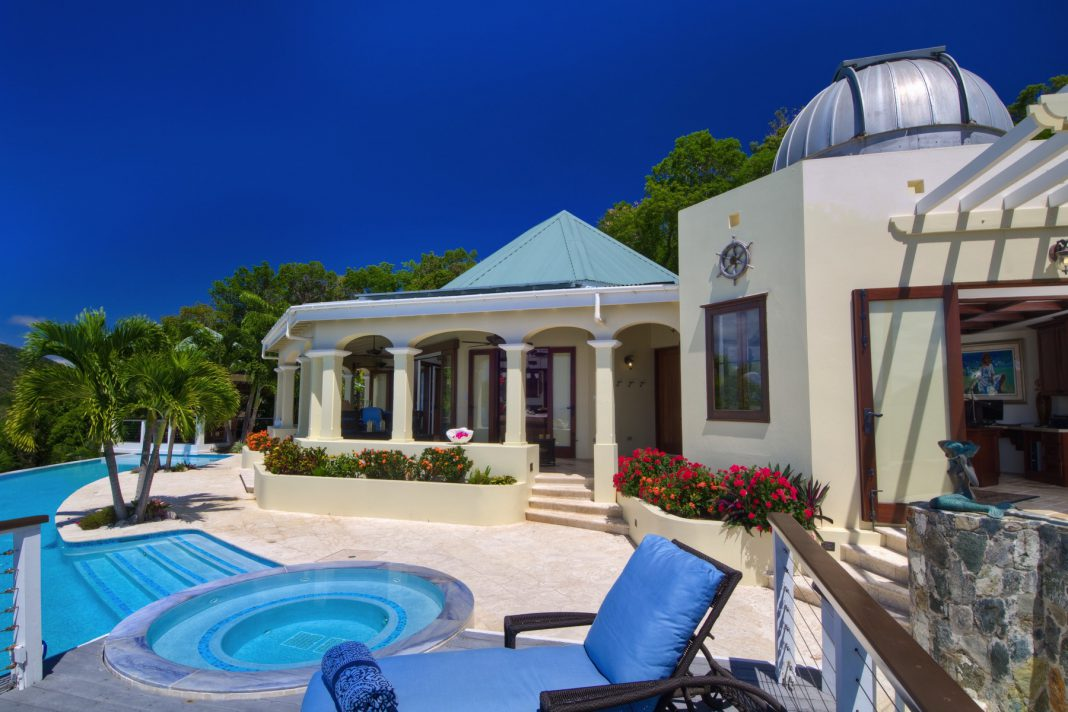 Virgin Islands mansion front