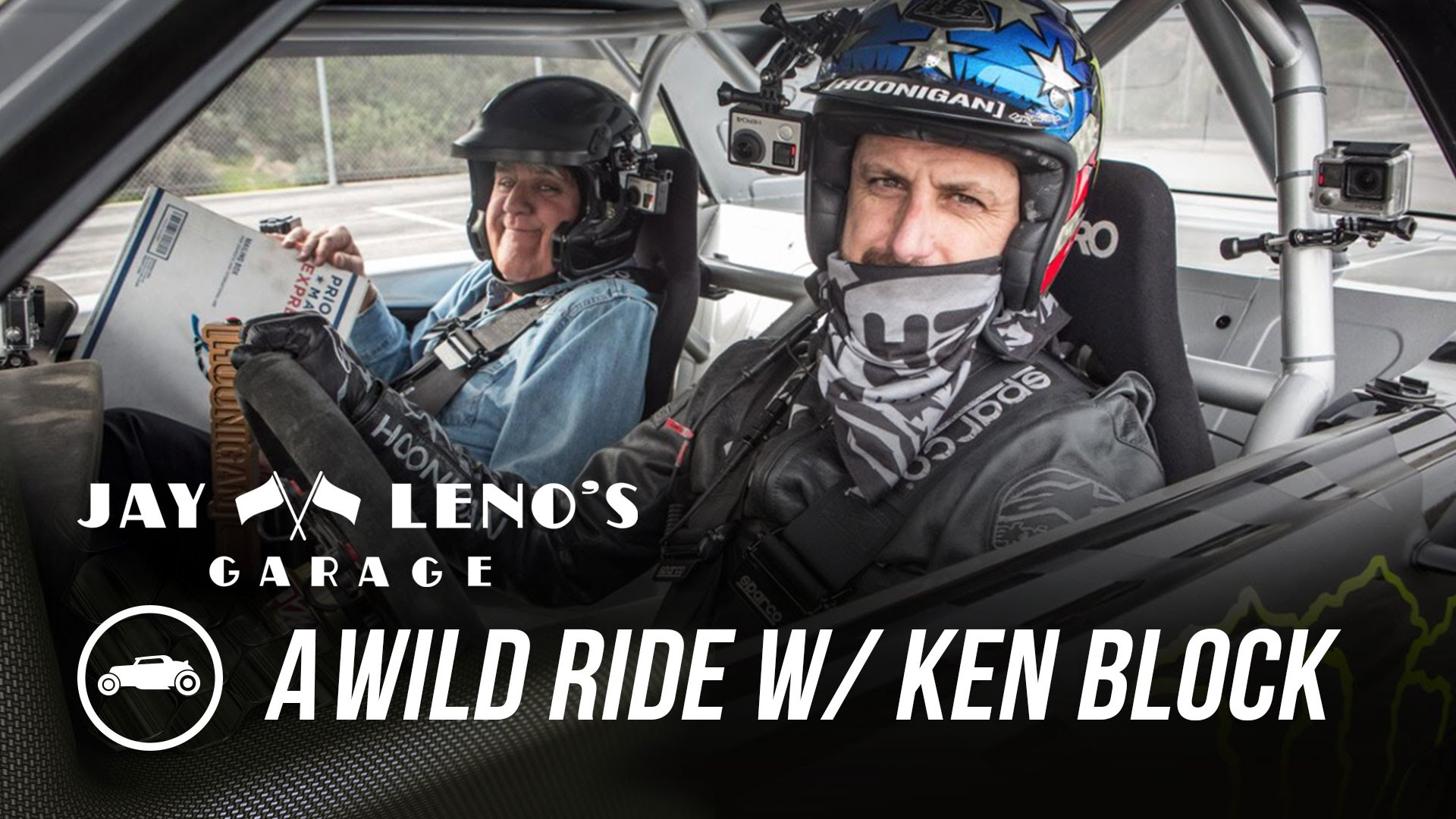 Video: Jay Leno Rides in Ken Block's Hoonicorn Mustang