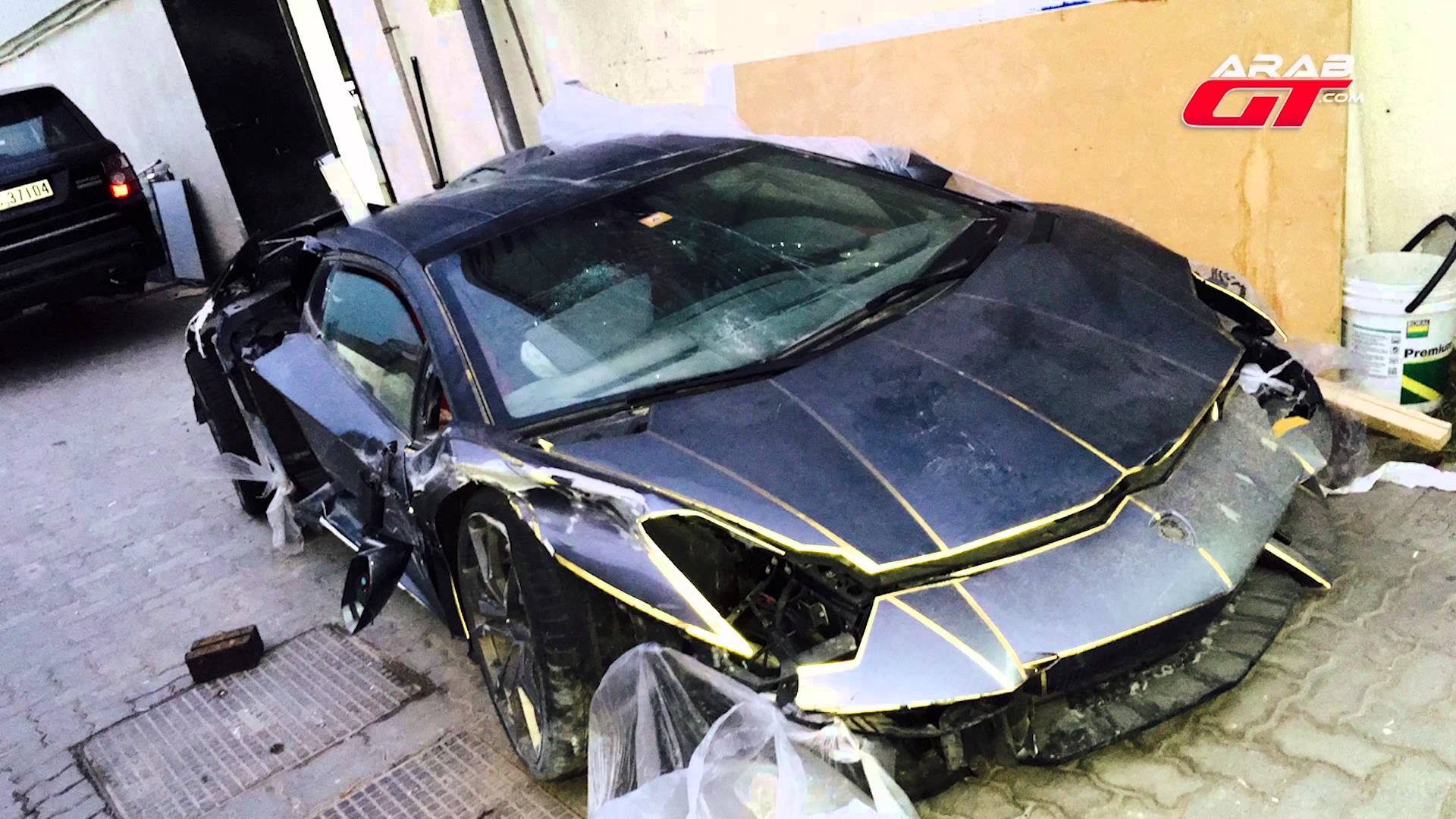 Wrecked Cars For Sale >> Wrecked Lamborghini Aventador Auctioned for $100K in Dubai ...