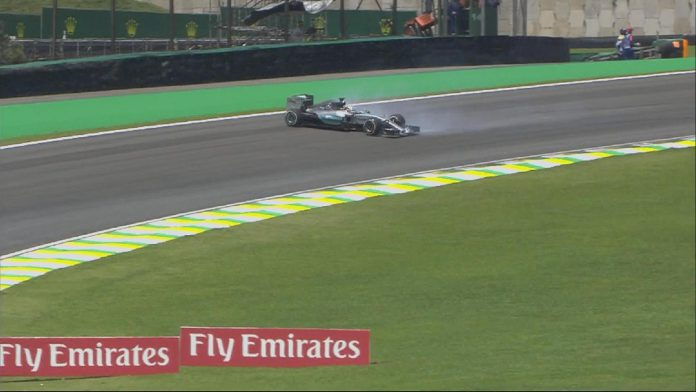 Mercedes-AMG Brazilian GP spinning