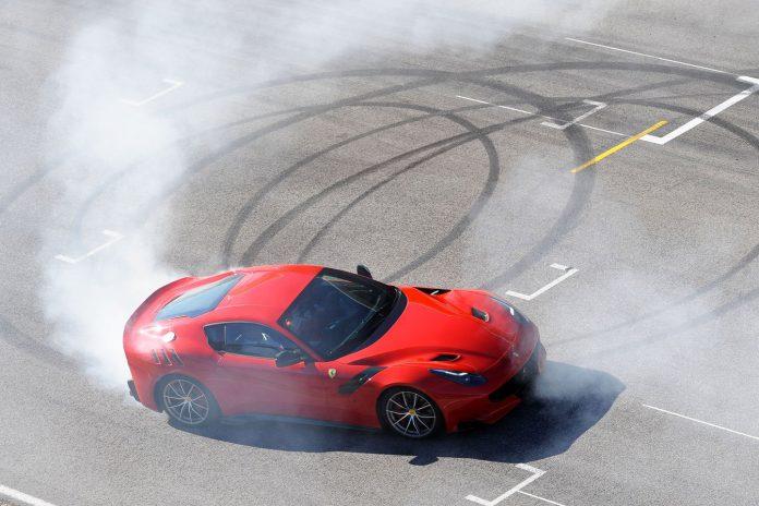 Red Ferrari F12tdf