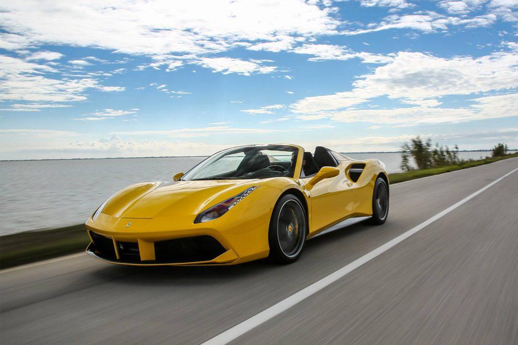 Yellow Ferrari 488 Spider