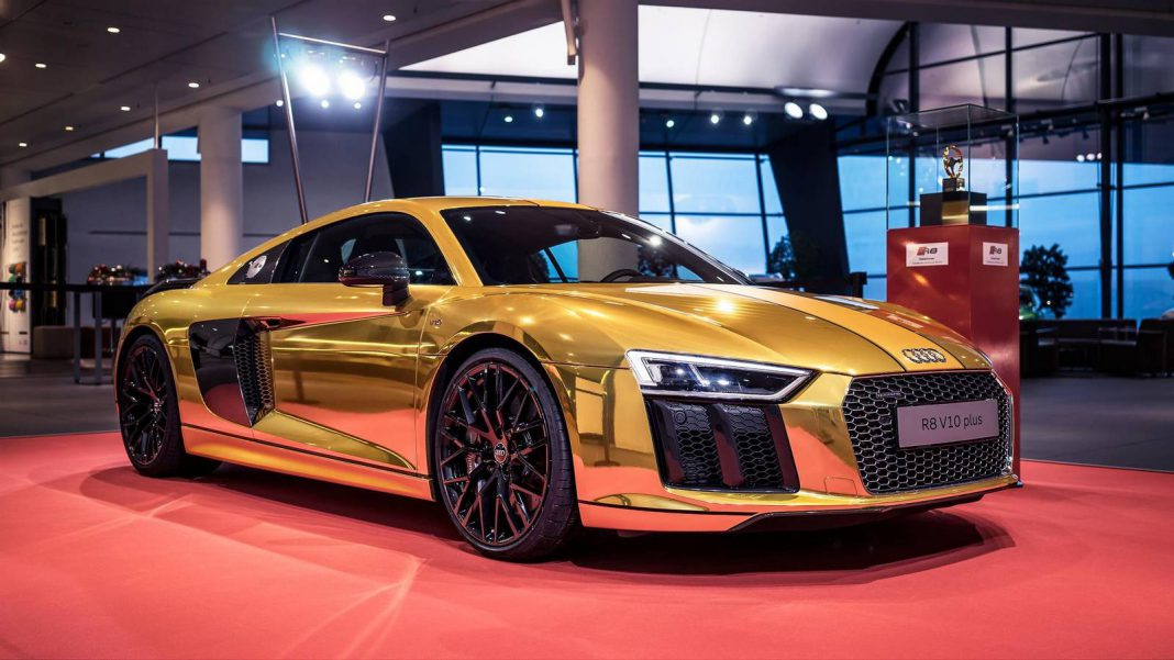 Mustang Dorado >> Golden Audi R8 V10 Plus Revealed - GTspirit