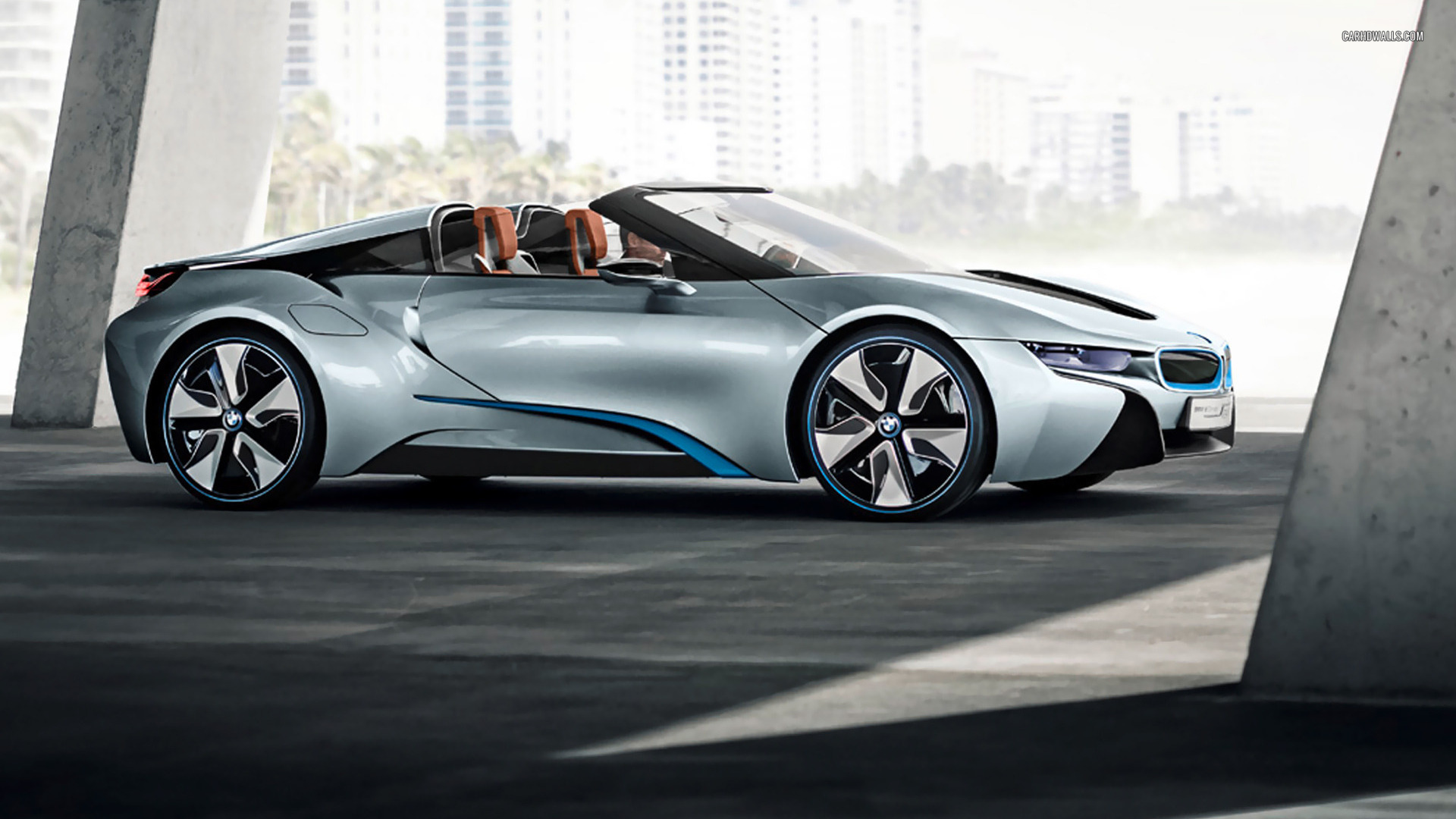 bmw i8 spyder concept to launch at ces 2016 gtspirit. Black Bedroom Furniture Sets. Home Design Ideas