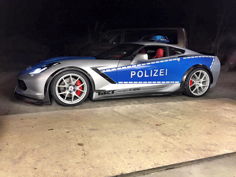 Corvette Police Car: TIKT Performance Reveals Carbon Fiber Corvette Police Car