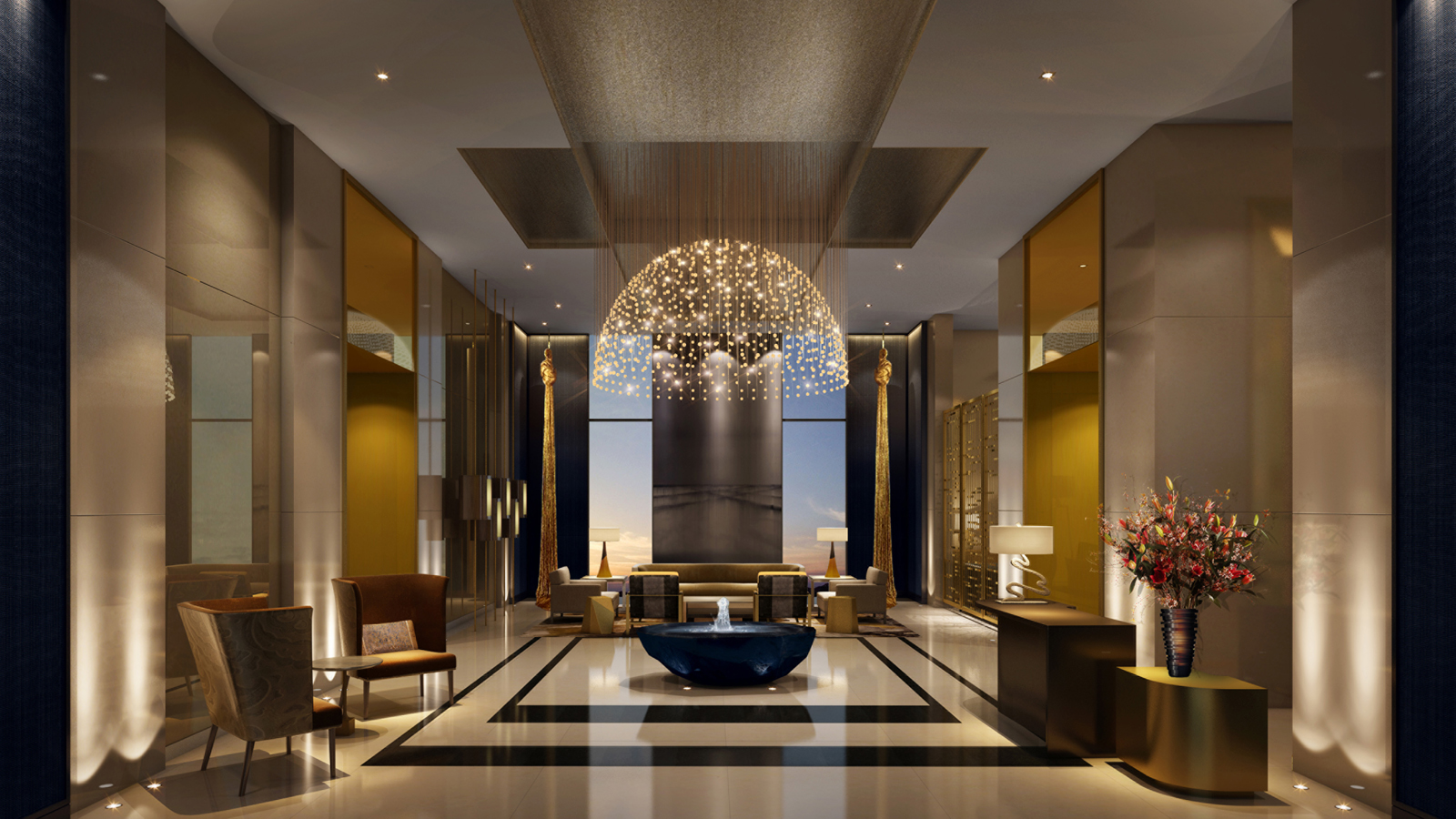 Four seasons hotel dubai international financial centre for Business hotel design