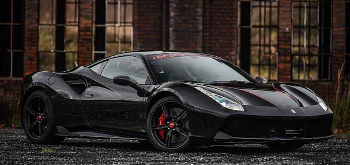 Black on Black Ferrari 488 GTB